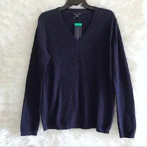 Tommy Hilfiger Navy blue sweater Large